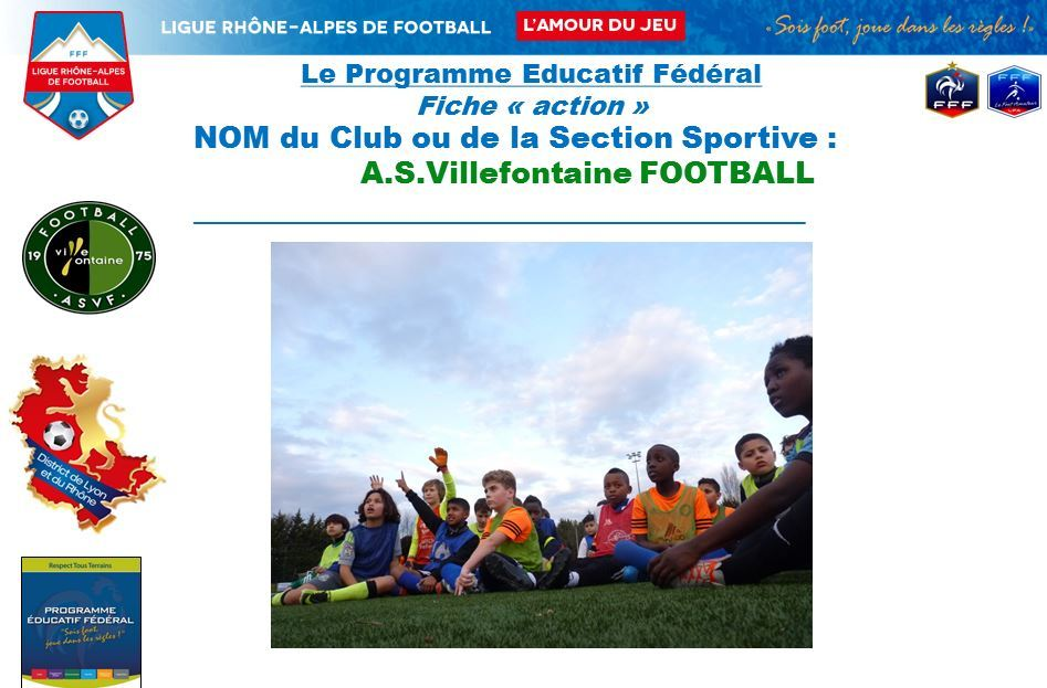 Label / PEF : Action lois du jeu U11