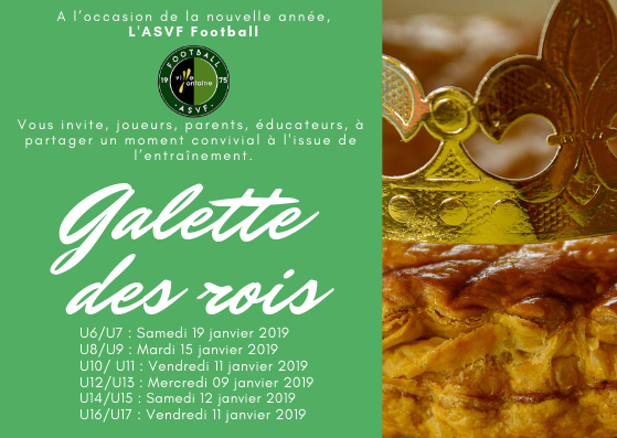 Asvf Football Galette Des Rois Asvf Section Football Site